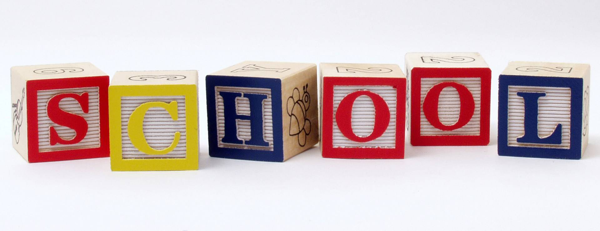 Play blocks spelling SCHOOL